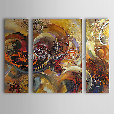 Free shipping 3pcs framed 100% Hand-painted modern home decor abstract  wall art picture oil painting on canvas for living room