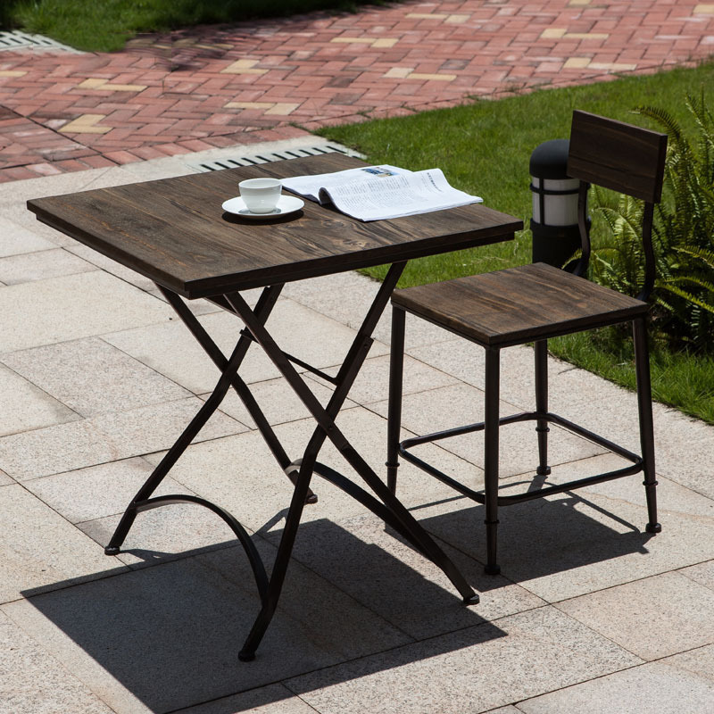 Small Wood Dining Tables: Jane Gang Iron Household Small Dining Table New Simple