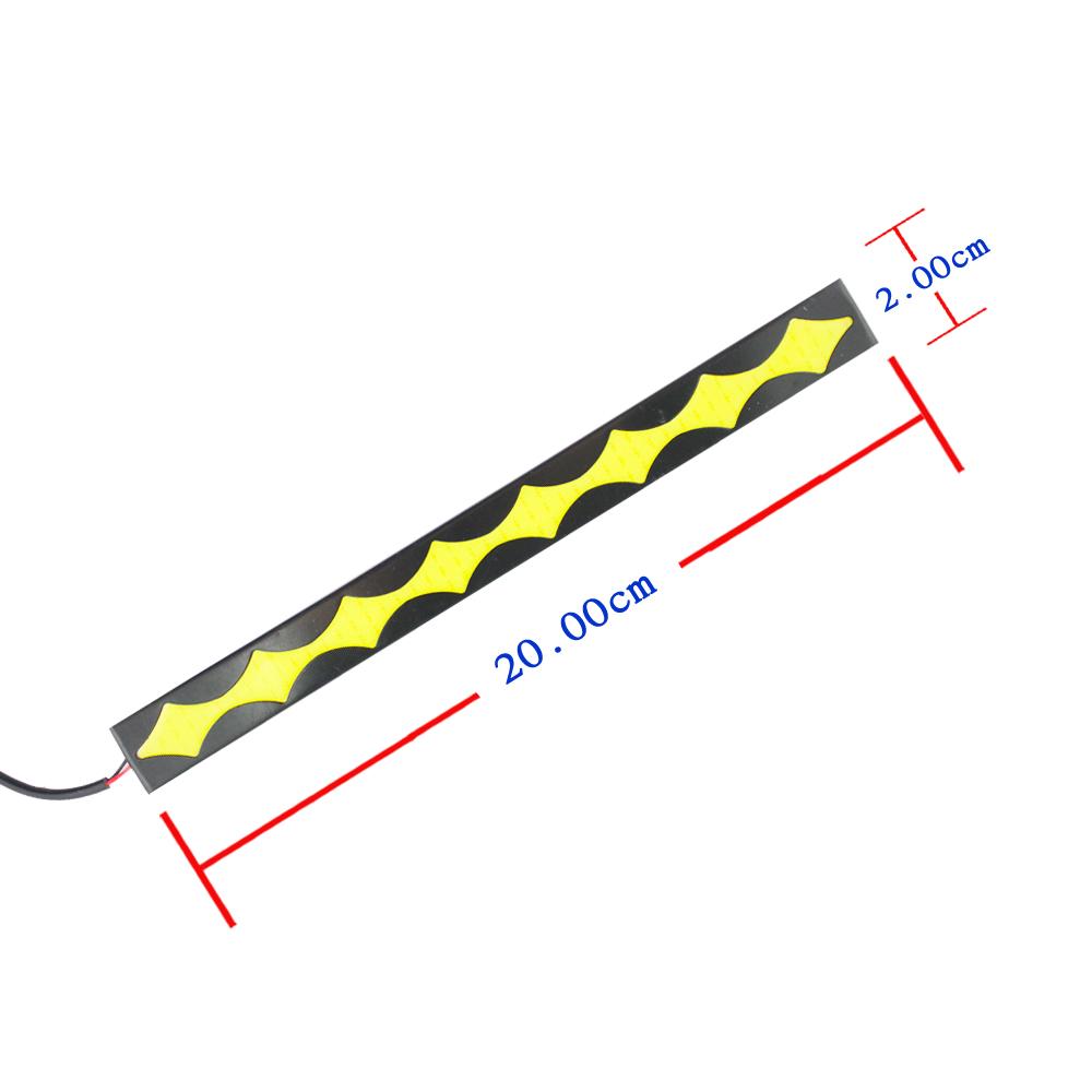 1 пара ( 2 шт. ) тунец форма из светодиодов удара света авто DRL ошибок дневного ходового огня противотуманные фары 12 В