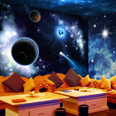 free shipping ktv bar large mural wallpaper ceiling universe star galaxy 3d stereoscopic cool. Black Bedroom Furniture Sets. Home Design Ideas
