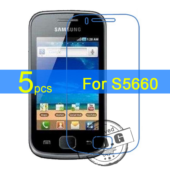 5pcs glossy Matte LCD Screen Protector Film Cover For Samsung Galaxy Gio S5660 i569 Protective Film