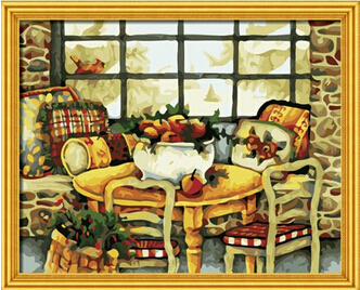 Cuadros decoracion Painting by numbers Modern diy oil paintings Creative on wall home decor pictures 40 50 cm Cozy hut