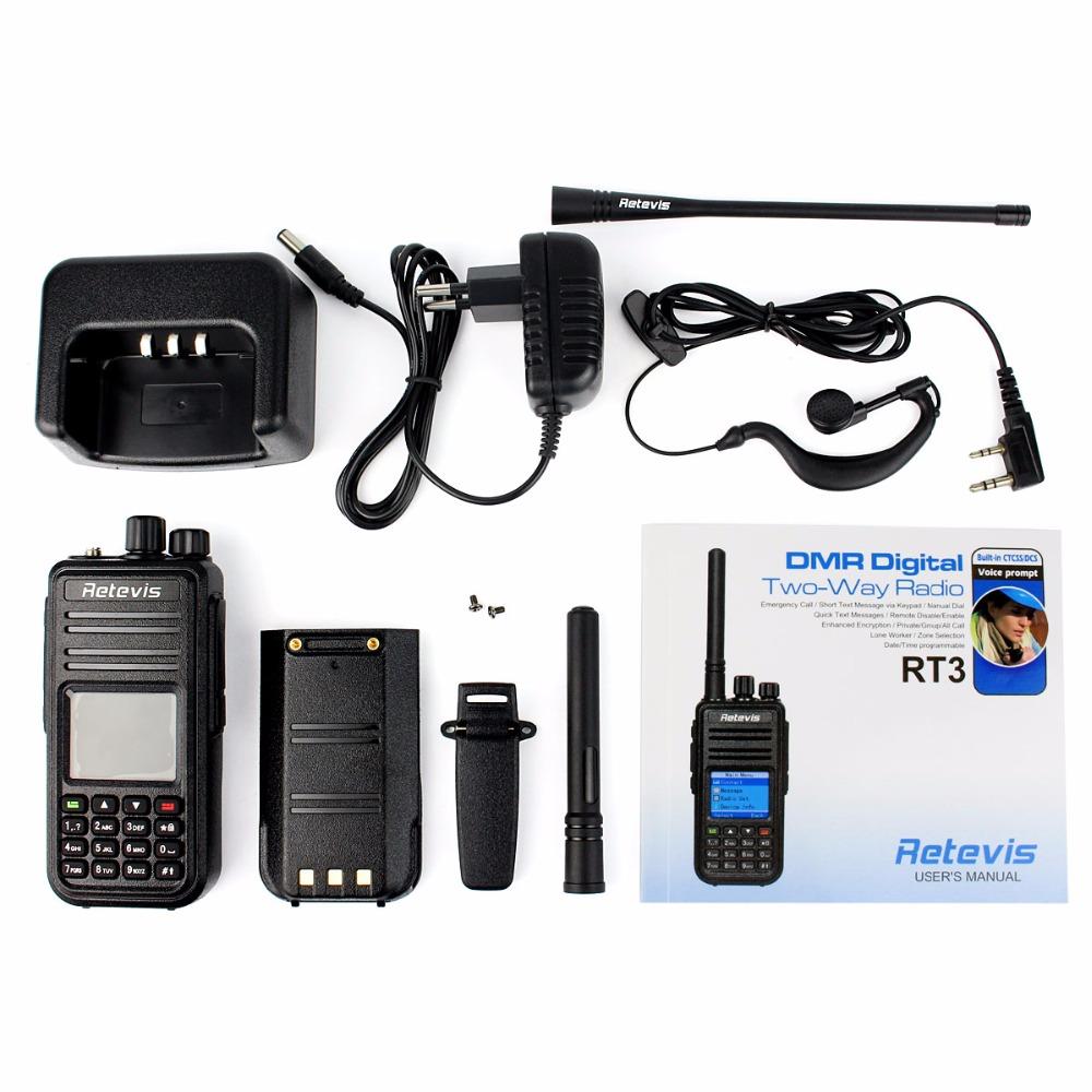 Новый Retevis DMR цифровой рация RT3 UHF 400 - 480 мГц 5 Вт 1000 каналов цифрового радио VOX сигнализация двухстороннее радио A9110A
