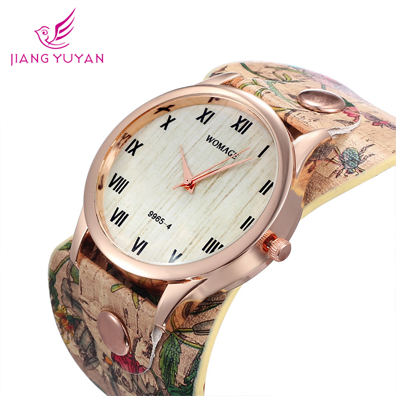 Womage бренд группа дизайн браслет часов женщины роуз чехол рим стиль мода свободного покроя кварцевые часы Laides Relogio фем