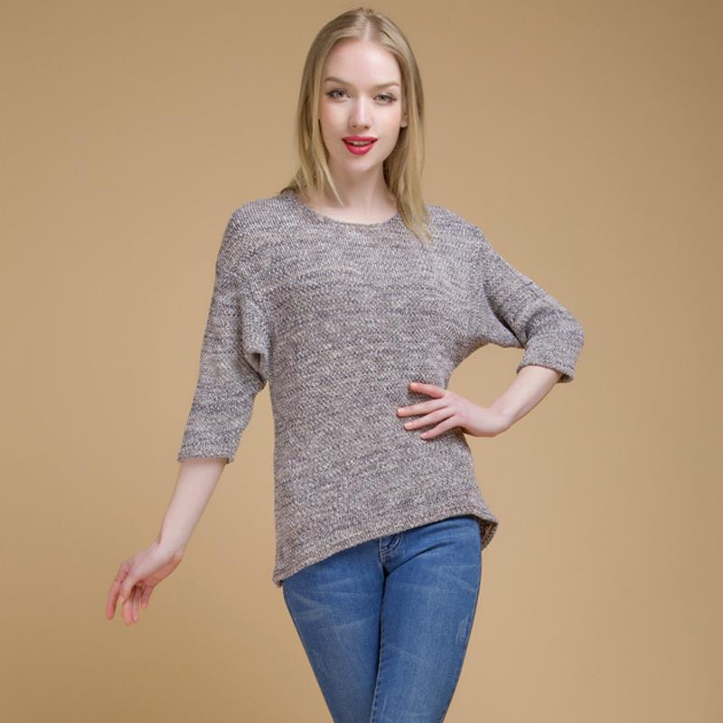 women sweaters casual loose knitted sweater pull femme mujer batwing sleeve o neck elegant. Black Bedroom Furniture Sets. Home Design Ideas