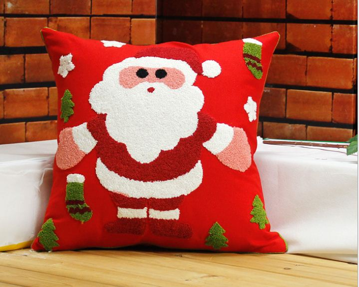 buy embroidered christmas pillow decorative cushion cover beautiful sofa. Black Bedroom Furniture Sets. Home Design Ideas