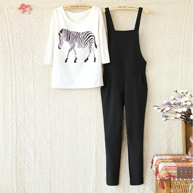 Maternity-zebra-print-long-sleeved-overalls-suit-plus-care