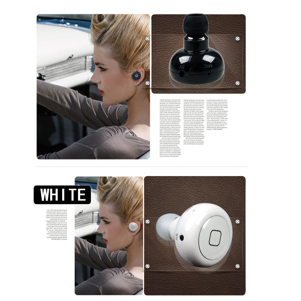 mini wireless stereo in ear bluetooth kopfh rer headset. Black Bedroom Furniture Sets. Home Design Ideas