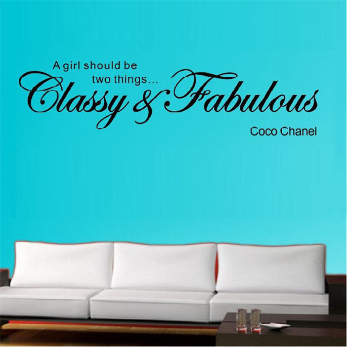 Fashion Classy Fabulous Removable Art Vinyl Mural Home Room Decor Wall Stickers   Suzie