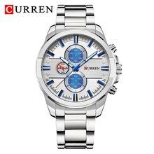 Мужские часы Элитный бренд CURREN хронограф мужские s полный стальной армейские часы Водонепроницаемый кварцевый аналог 2019 новый Relogio Masculino(Китай)