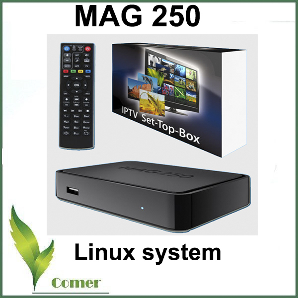 Mag 250 linux system IPTV Set Top Box HD 1080p Satellite Receiver support lan wifi youtube Mag250 support wifi adapter mag254