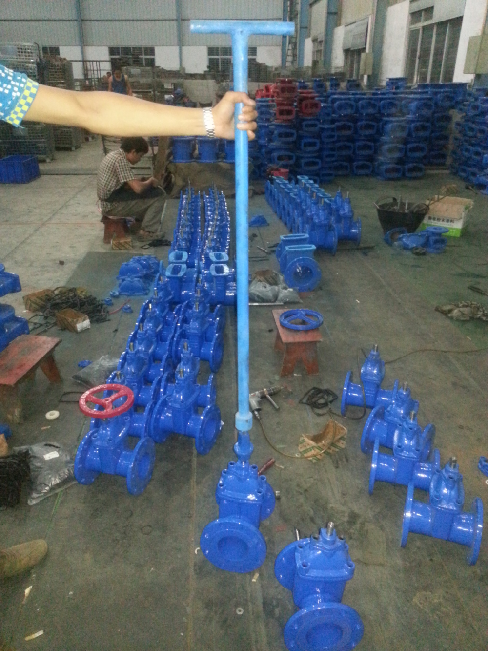 Soft Seated Buried Gate Valve With Stem Cap And T Key