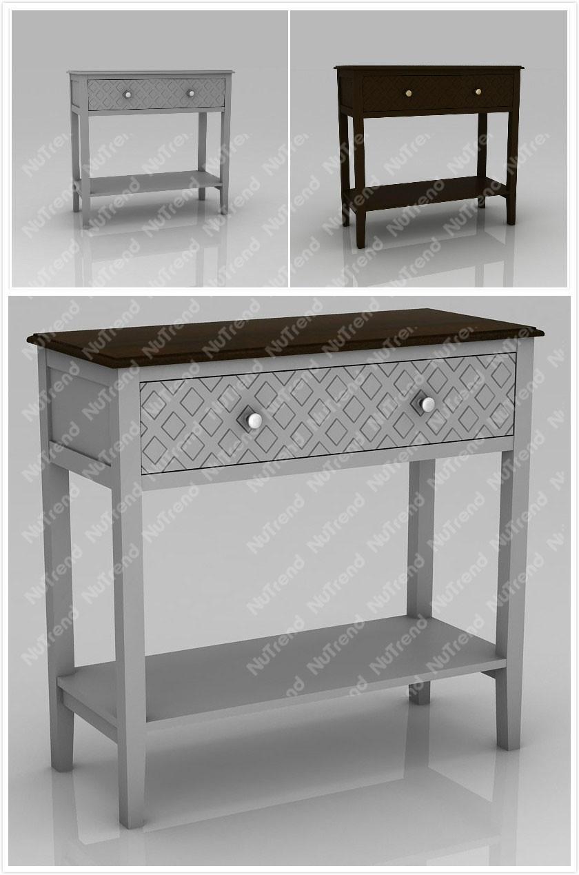 moderne bois mur console table avec checker avant conceptions table en bois id de produit. Black Bedroom Furniture Sets. Home Design Ideas