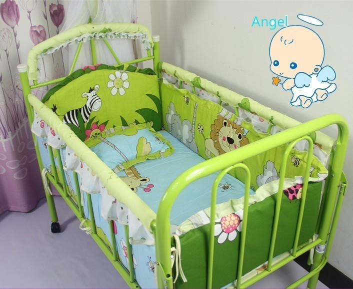 Promotion 10PCS baby bed set baby crib bedding set baby bedding bumper bumpers matress pillow duvet