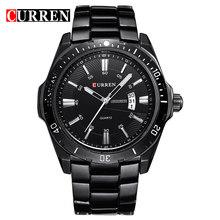 Мужские часы, роскошные Брендовые Часы CURREN, Кварцевые спортивные военные мужские полностью Стальные наручные часы, погружение 30 м, повседне...(Китай)