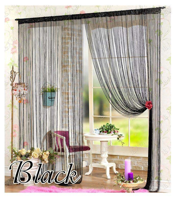 fen tres de porte panneau curtainf pour salon 300 cm x 300 cm diviseur fil rideaux cordes bande. Black Bedroom Furniture Sets. Home Design Ideas