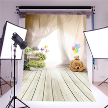 photography backdrops photo props fantasy ballon bear wooden floor vinyl 5x7ft photo studio stand background