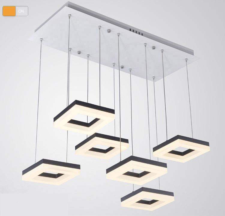 buy 54w dining room square pendant light italian design led pendant lights. Black Bedroom Furniture Sets. Home Design Ideas