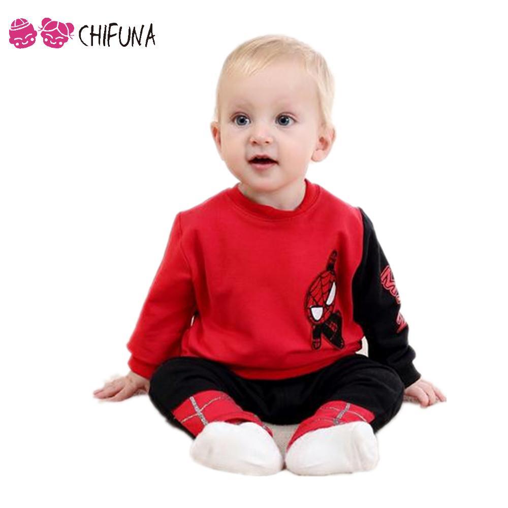 Hot Sale 2016 Spring Autumn Baby Boy Clothes Set Boys Sport Spider-Man Printing Shirt+Pants 2pcs Suit Kids Clothes Boy Sets