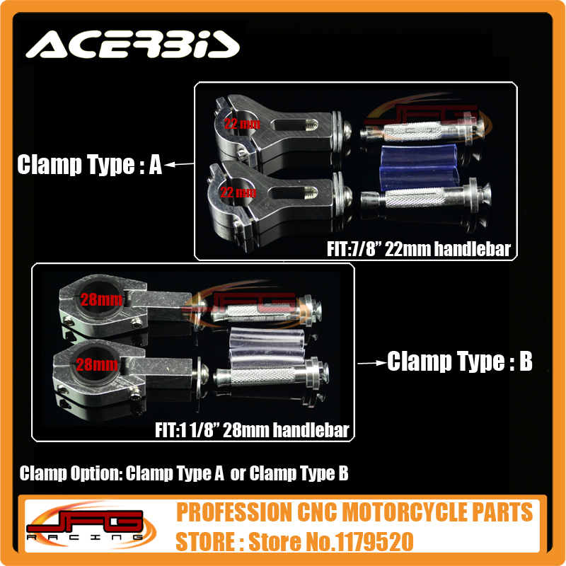 Acerbis ралли Pro руль гвардии Handguard ручка защита 22 мм 28 мм сплава вставки CR / CRF 250 пит байк