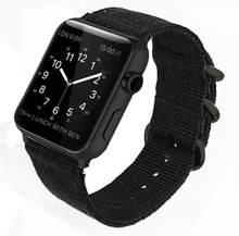 Ремешок Nato для Apple watch 4, 5, 44 мм, 40 мм, ремешок correa iwatch 42 мм, 38 мм, нейлоновый Браслет для Apple watch 4, 3, 2, 1(Китай)