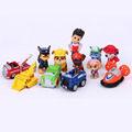 12pcs set Canine Patrol Dog Toys Russian Anime Doll Action Figures Car Patrol Puppy Toy Patrulla