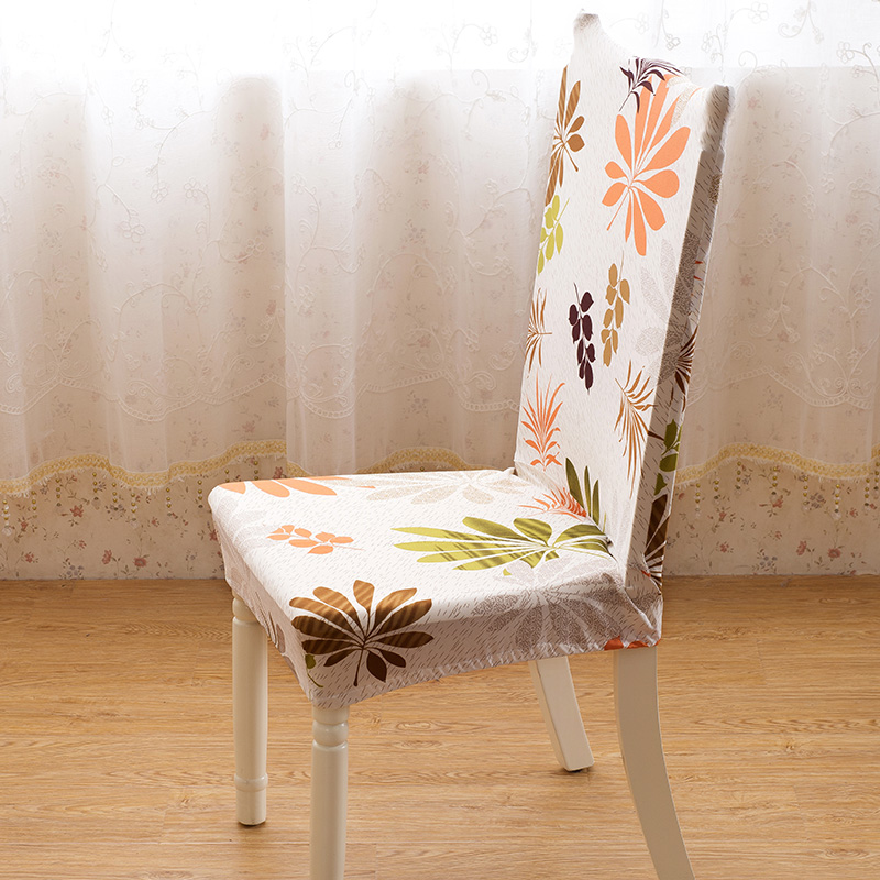 Fabric Chair Covers For Dining Room Chairs: Dining Room Jacquard Poyester Spandex Fabric Chair Covers