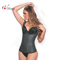 New Latex Vest Waist Cincher Chest Binder Body Shaper Corrector For Women Corset Slimming Plus Size