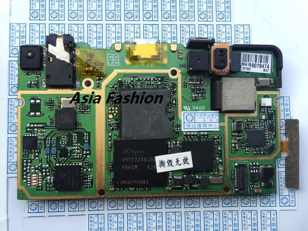 Unlocked Used TEST Lenovo P780 Motherboard Mainboard Board with volume  power button camera sim card gps antenna free shipping