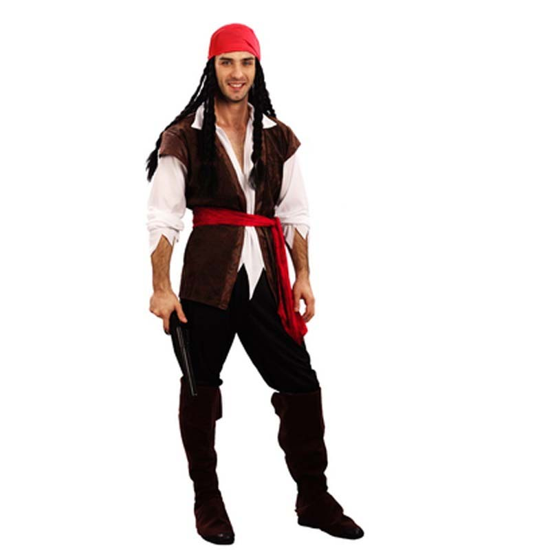 Costume Halloween Man.2018 Men Male Pirates Costume Adults Masquerade Cosplay Pirate Costumes Halloween Theme Party Dress Supplies Purim