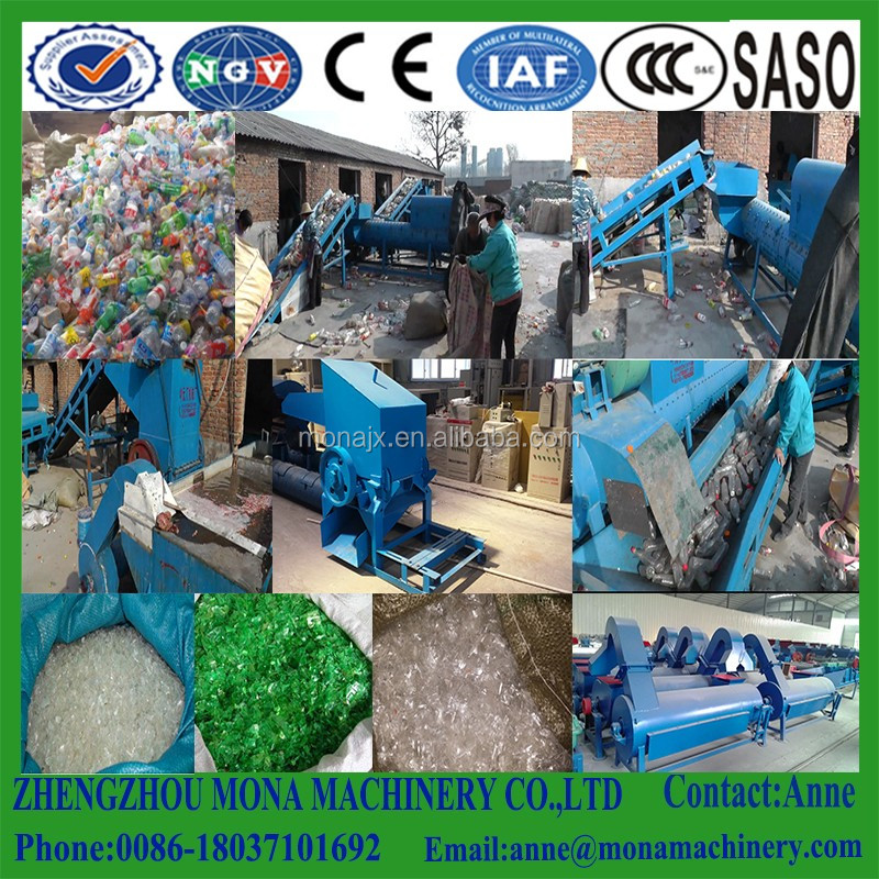 Plastic Washing Recycling Line Pet Bottle Flakes Recycled