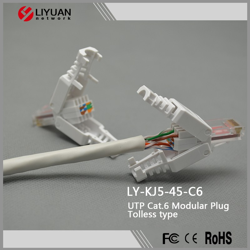 Rj45 Ethernet Cable Plug Wiring Ready For Crimping