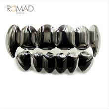 Черный, золотой, серебристый цвет, хип-хоп, зубцы Grillz Top & Bootom Groll Vampire Teeth ювелирных изделий, лучший подарок для Хэллоуина Z4(Китай)