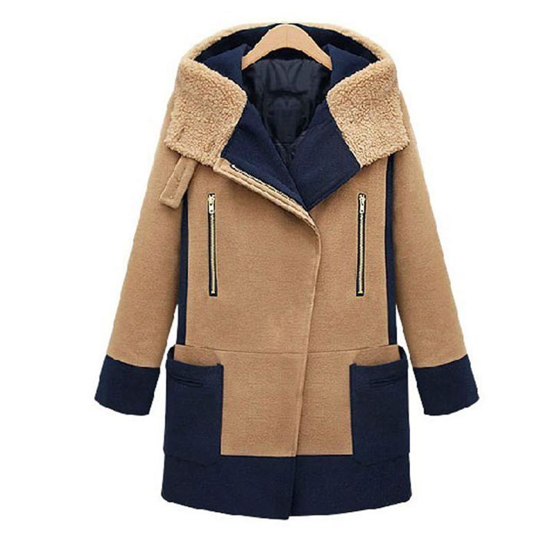 2016 Plus Size Winter Cashmere Coat Female Warm Wool Coat