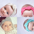 5pcs Handmade Knotted Baby Headband Fabric Enfant Hair Band Accessories Para Cabelo Solid Bandeau Hairband Headwrap