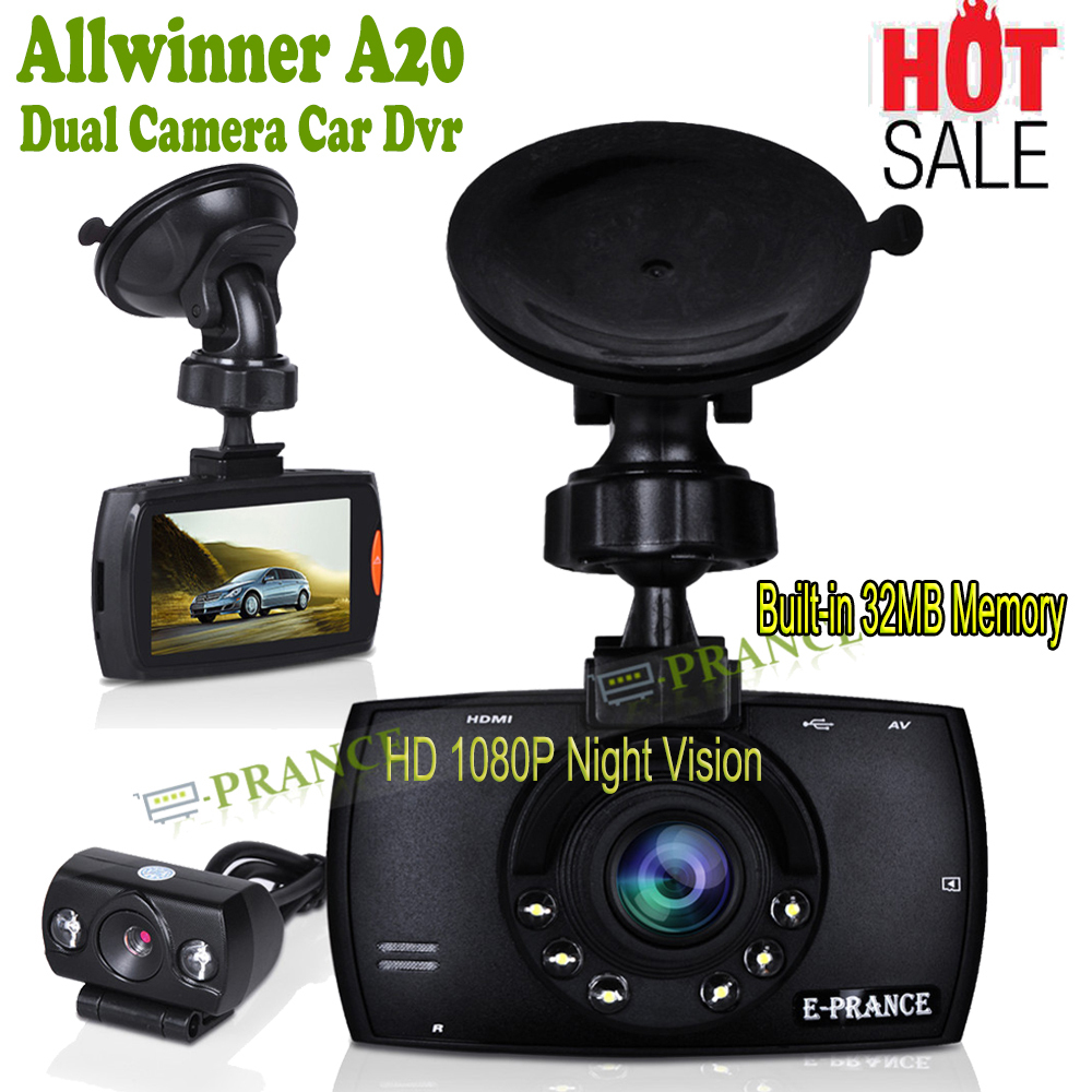 buy g60 dash cam dual lens car dvr dual camera hd 1080p night vision allwinner. Black Bedroom Furniture Sets. Home Design Ideas