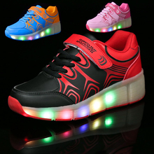 Children Shoes With Wheel LED Lighted Roller Skates Sport Casual Roller Wheely s For Chid And