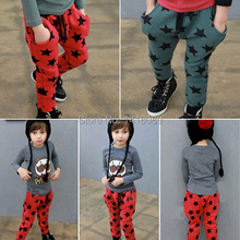 low price 0806Fashion Toddler Boys Cotton Long Pants Stars Pattern Trousers Casual Bottoms Hot