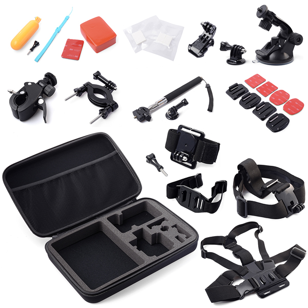 30 All-in-1 Professional Gopro Accessories Kit Bundle Bag For Gopro HD Hero