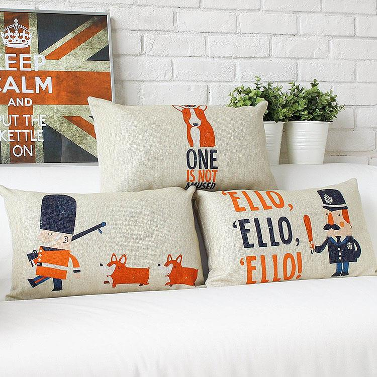 Free Shipping British Style Traffic Police Fabric Throw Pillow Hot Sale New Home Fashion Christmas Decor 30x50cm Car Cushion