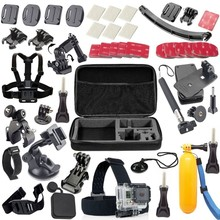 Free shipping Gopro Accessories set gopro mount accessories 360 rotation for gopro Go pro 3 gopro hero accessories set 20 in 1