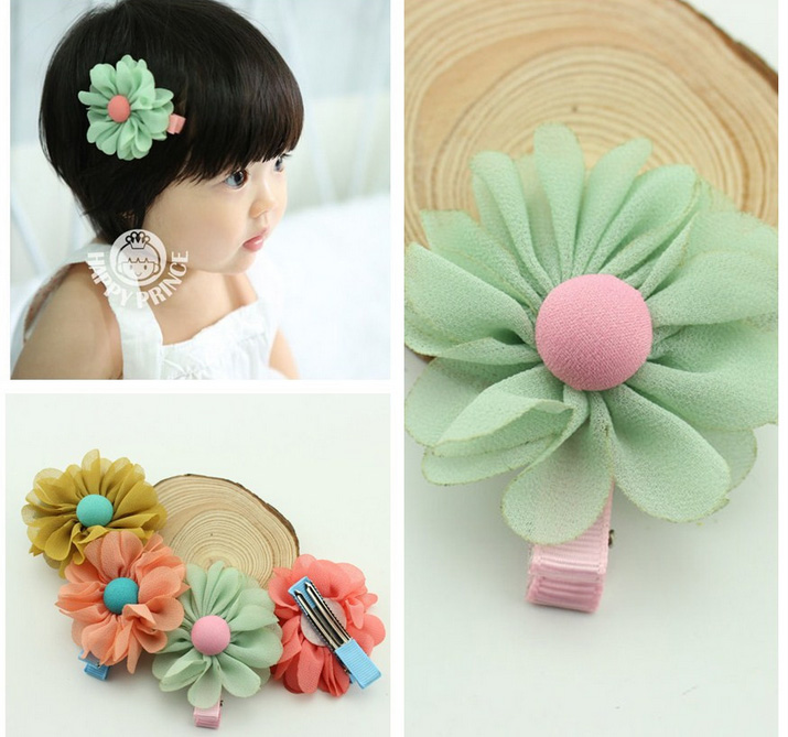 10pcs Novelty Kids Hair Jewelry Accessories Para Cabelo Cute Sun Flower Baby Hairpins Toddler Girl font
