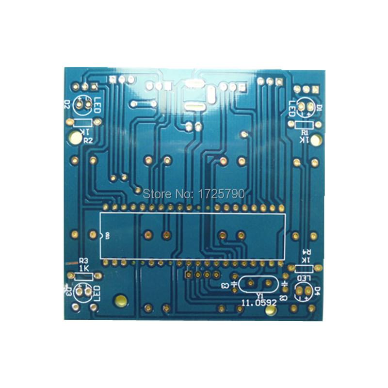 Livraison Gratuite 4 4 4 Diy Electronique Kit 3d Led Lumiere Carre Bleu Led Cube Diy Pcb Board Kit Ensemble Avec Etui Convient Pour Arduino