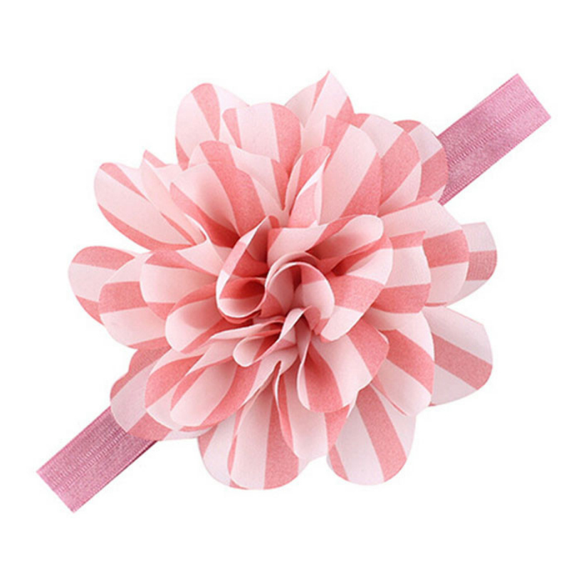 Best Deal New Fashion 1PC Lovely Baby Girls Headbands Striped Flower Headbands For Girls Infant Hair Band Perfect Gift