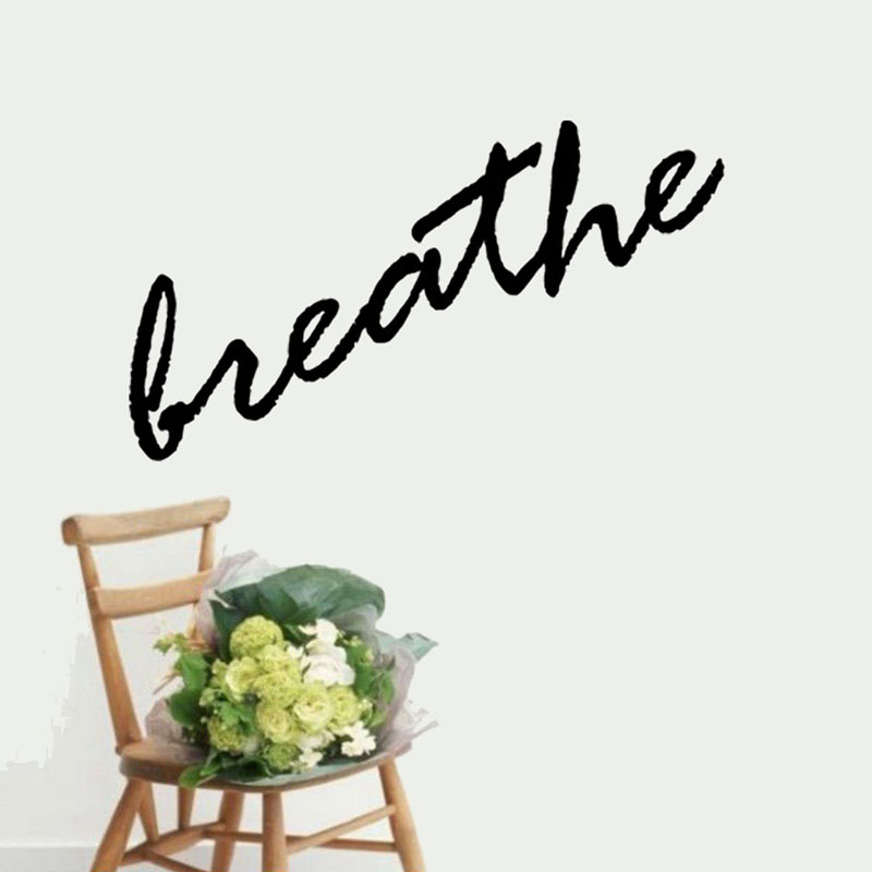 Large Size Creative Simple Home Decor Breathe Wall Decals Vinyl Art Sticker Removable For Living Room 101x58cm