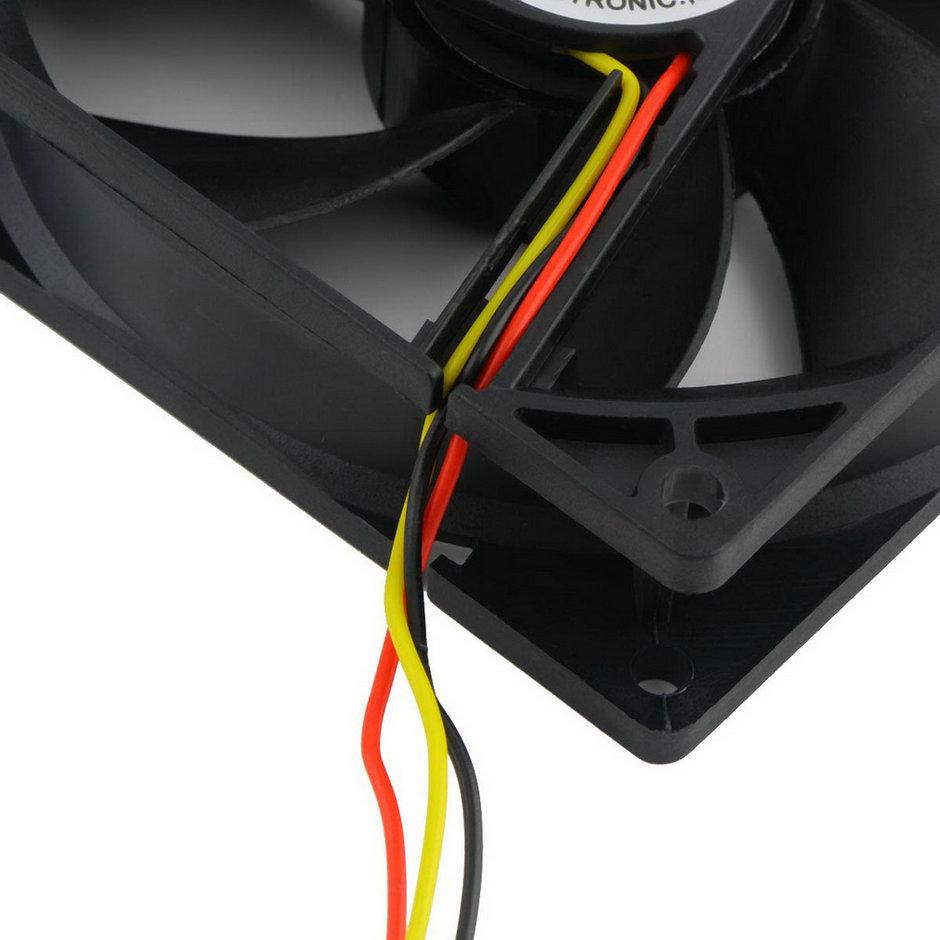 Горячая! 1 шт. 12 В 3-Pin 9 см 90 x 25 мм 90 мм процессора радиаторы кулер вентилятор вентилятор охлаждения 65 CFM высокое качество