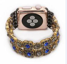 Смарт-браслет для мужчин и женщин, винтажные часы для iphone, Apple Watch, iwatch Gem Blue, 38 мм, 42 мм, Powder band, 1, 2, 3(China)