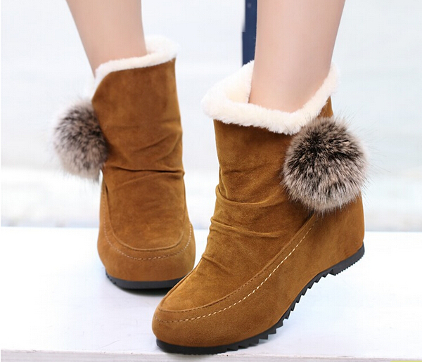 Women warm snow boots lady's winter soft boots female