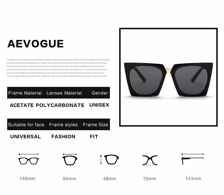 67ecf1de0a ... you leave Neutral or Negative feedback About AEVOGUE Cool Cat Eye  Sunglasses Women Summer Style Sun Glasses Brand Designer Vintage Gafas  Oculos De ...