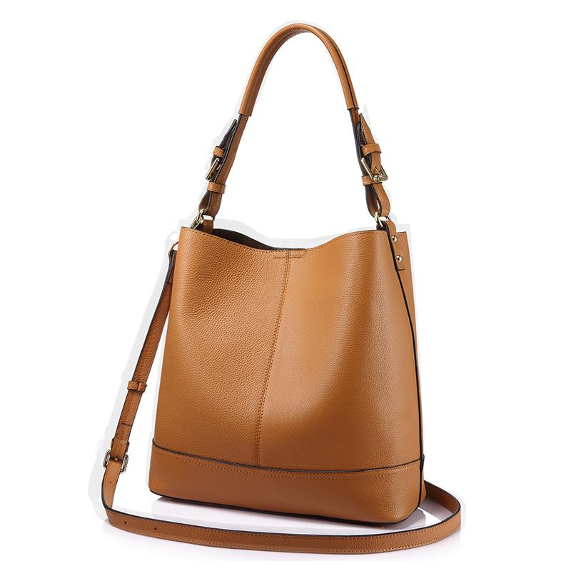 REALER бренд модная мягкая женская сумка ведро из натуральной кожи большого объёма с съёмным карманом, дамские сумки хобо,большая сумка через ...(Китай)
